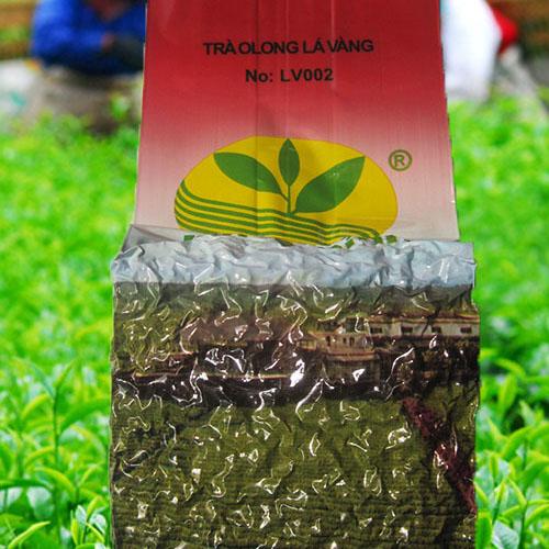 màu nước trà Ô long lá vàng