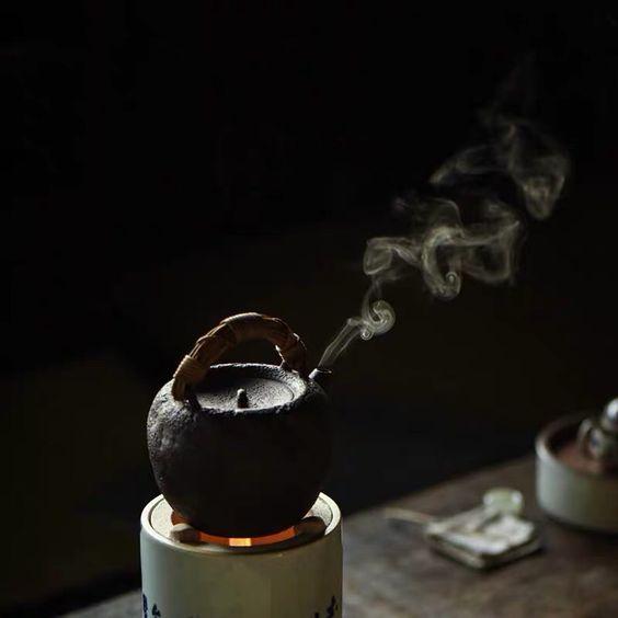 đun nước pha trà